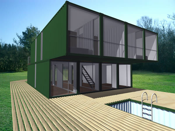 Chk container home kit lot ek for Shipping container kit homes