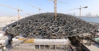 Terminada la estructura de la gran cubierta del Louvre Abu Dhabi - Jean Nouvel