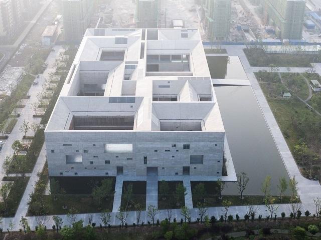 China: Centro de Cultura y Arte del condado de Shòu - Studio Zhu-Pei