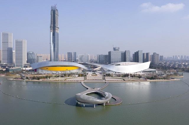 China: Centro cultural de Suzhou - Christian de Portzamparc