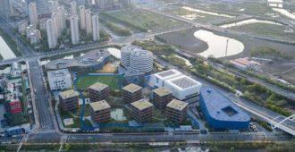 China: Campus de la Escuela Internacional Qingpu Pinghe - OPEN Architecture