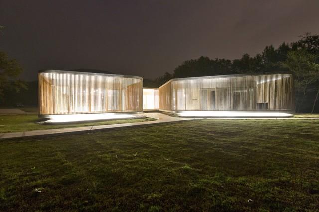 China: Imágenes y videos del parque alrededor del Sifang Art Museum, en Nanjing