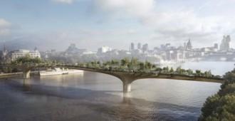 Un puente-jardín sobre el Támesis - Thomas Heatherwick