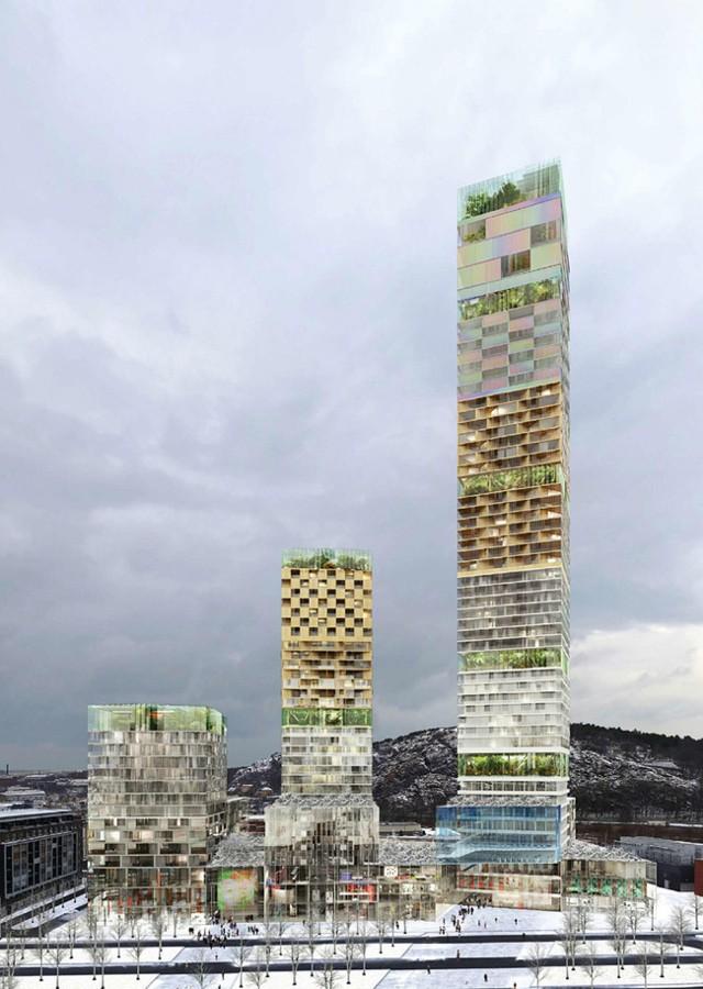 Se anunciaron los finalistas para la torre más alta de Suecia