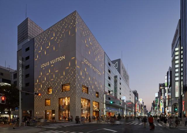 Japón: Fachada Louis Vuitton Ginza, Tokio - Jun Aoki & Associates