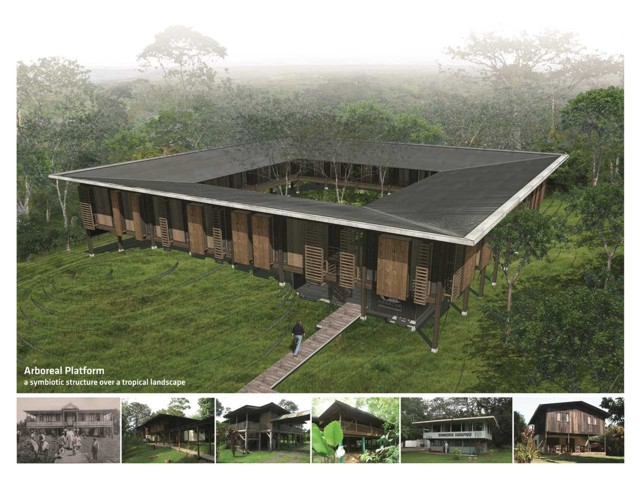 Arboreal Platform: Construcción de madera para un centro forestal de bajo impacto