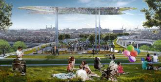 Argentina: Primer premio concurso Internacional 'Parque en Altura ,Barrio 31- Retiro' Buenos Aires - Vila y Sebastián Arquitectos, Gaspar Libedinsky y Santiago Di Lorenzo
