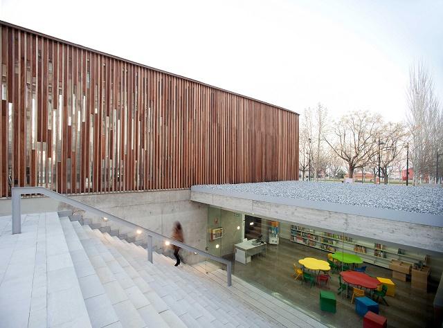 España: Biblioteca Pública María Lejárraga,  Ogíjares, Granada - Rubens Cortés Arquitectos
