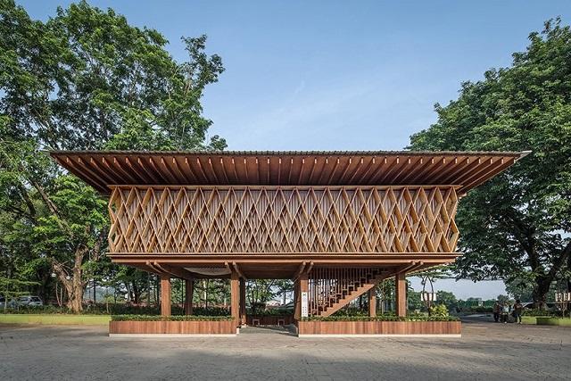 Indonesia: Biblioteca Warak Kayu - SHAU